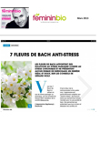 Article du Site Femininbio.com March 2013 Fleurs de Bach