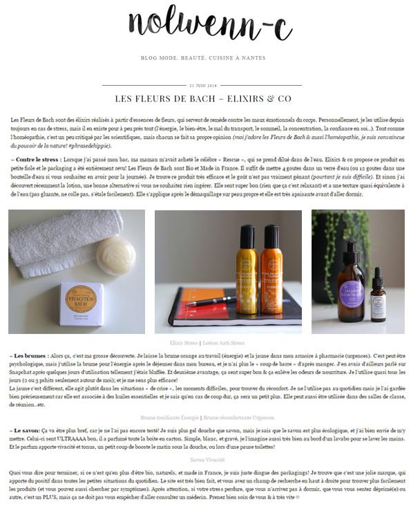 Article du Le blog de Nolwenn C Juin 2016 Fleurs de Bach