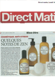 Article de presse Direct matin April 2012 Fleurs de bach